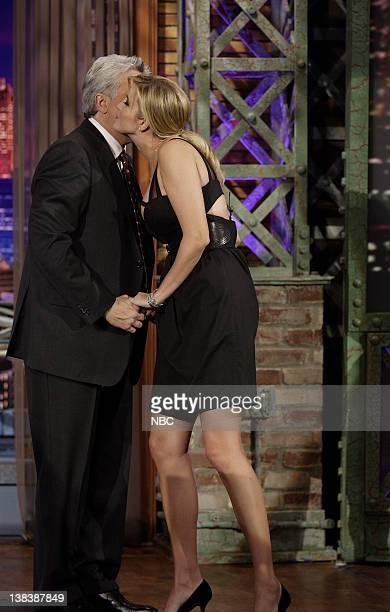 Host Jay Leno greets television personality Ivanka Trump on January 30 2007