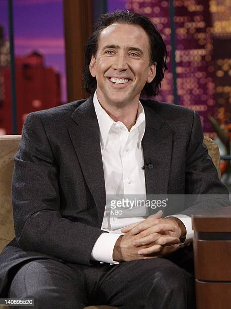 Actor Nicolas Cage during an interview on February 12 2007 Photo by Dave Bjerke/NBCU Photo Bank