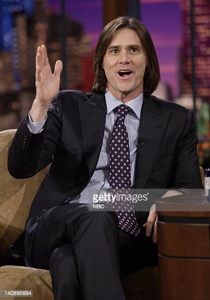 Actor Jim Carrey during an interview on February 15 2007 Photo by Paul Drinkwater/NBCU Photo Bank