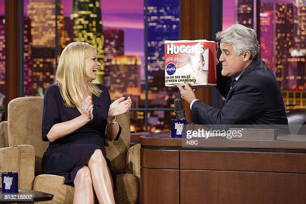 Actress Jamie Pressly during an interview with host Jay Leno on February 21 2007