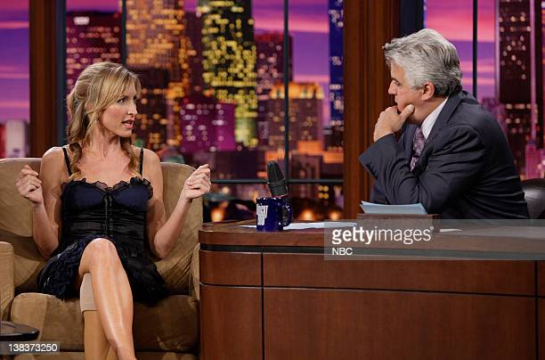 Heather Mills currently on the reality show Dancing with the Stars and Sir Paul McCartney's wife during an interview with host Jay Leno on March 21...