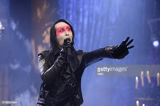 Musical guest Marilyn Manson performs on July 20 2007