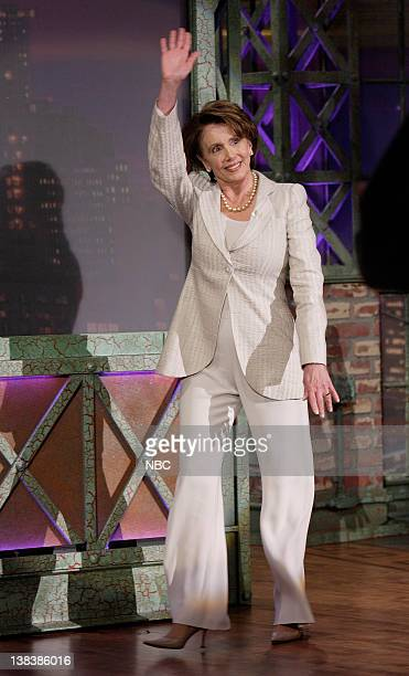Speaker of the United States House of Representatives Nancy Pelosi arrives on April 12 2007