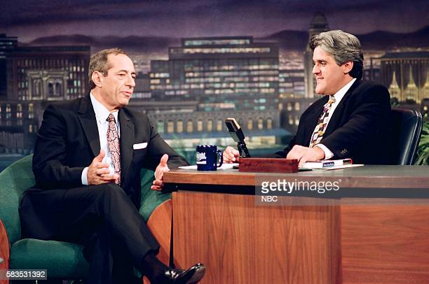 Former New York Governor of New York Mario Cuomo during an interview with host Jay Leno on November 5 1993