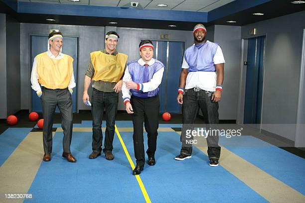 Josh Charles and Jon Hamm play dodgeball with Jimmy Fallon on October 29 2010