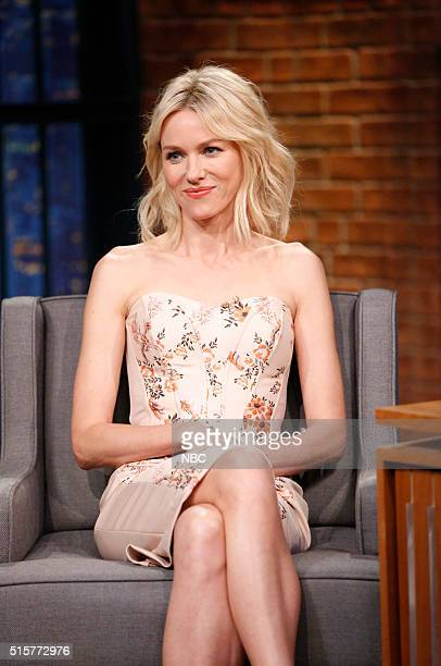 Actress Naomi Watts during an interview on March 15 2016