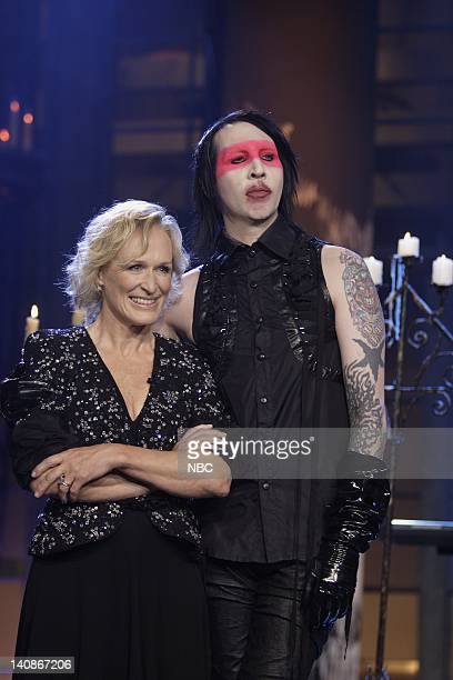 Actess Glenn Close musical guest Marilyn Manson on July 20 2007 Photo by Paul Drinkwater/NBCU Photo Bank