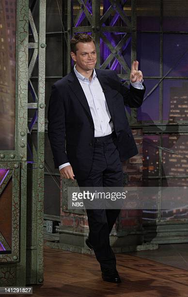 Episode 3410 -- Pictured: Actor Matt Damon arrives on July 25, 2007 -- Photo by: Paul Drinkwater/NBCU Photo Bank