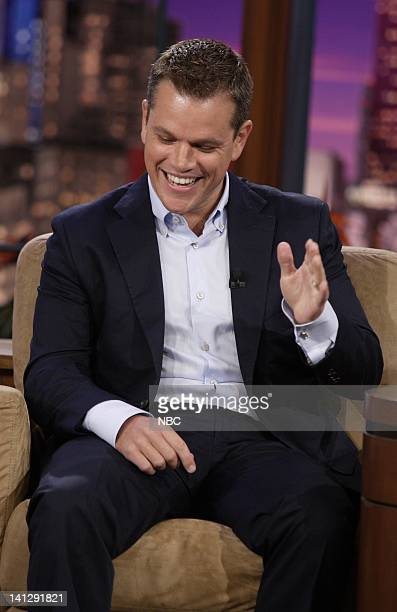 Episode 3410 -- Pictured: Actor Matt Damon during an interview on July 25, 2007 -- Photo by: Paul Drinkwater/NBCU Photo Bank