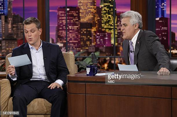 Episode 3410 -- Pictured: Actor Matt Damon during an interview with host Jay Leno on July 25, 2007 -- Photo by: Paul Drinkwater/NBCU Photo Bank