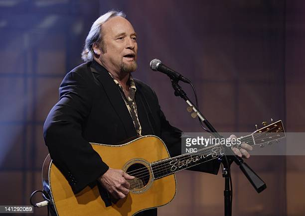 Episode 3410 -- Pictured: Musical guest Stephen Stills performs on July 25, 2007 -- Photo by: Paul Drinkwater/NBCU Photo Bank