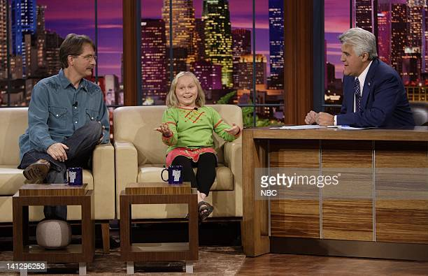 Actors Jeff Foxworthy and Maria Lark during an interview with host ay Leno on August 29 2007 Photo by Paul Drinkwater/NBCU Photo Bank