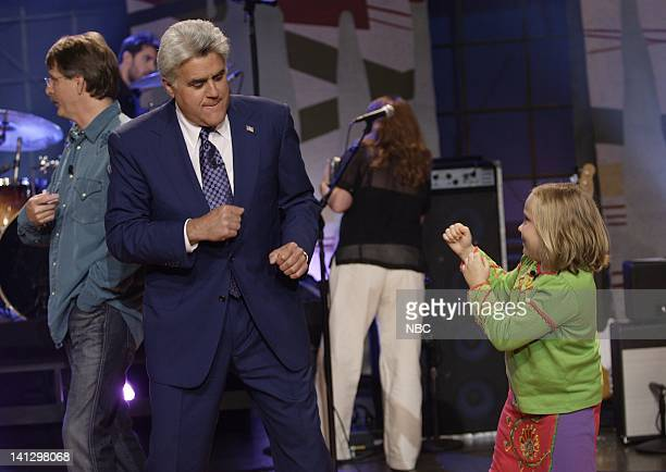 Host Jay Leno and actress Maria Lark horse around on August 29 2007 Photo by Paul Drinkwater/NBCU Photo Bank