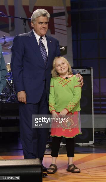 Host Jay Leno and actress Maria Lark on August 29 2007 Photo by Paul Drinkwater/NBCU Photo Bank