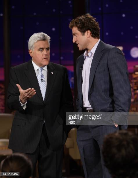 Host Jay Leno and tennis star Justin Gimelstob on September 7 2007 Photo by Margaret NortonNBCU Photo Bank