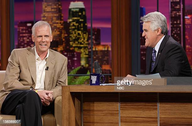 Episode 3445 -- Pictured: Former White House Press Secretary Tony Snow during an interview with host Jay Leno on September 27, 2007