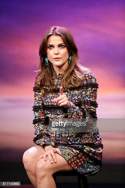 Actress Keri Russell during the 'A Message To My Younger Self' sketch on March 23 2016