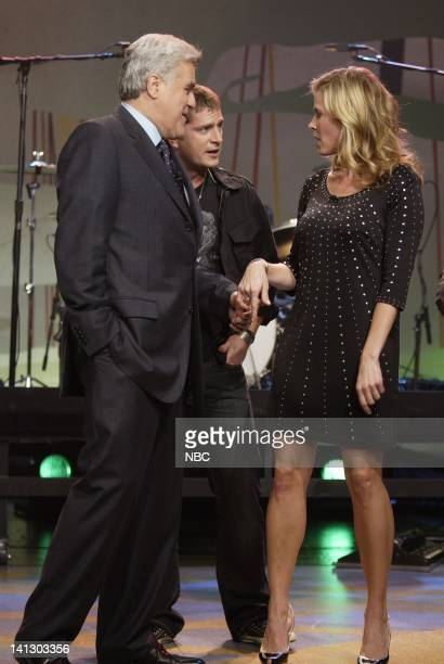 Host Jay Leno musical guest Matchbox 20 and television personality Chelsea Handler on October 4 2007 Photo by Paul Drinkwater/NBCU Photo Bank