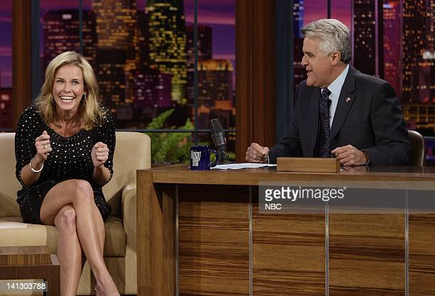 Television personality Chelsea Handler during an interview with host Jay Leno on October 4 2007 Photo by Paul Drinkwater/NBCU Photo Bank