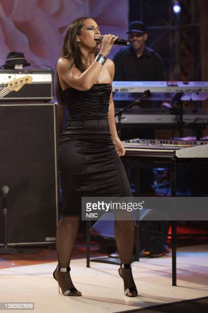 Musical guest Alicia Keys performs on October 12 2007