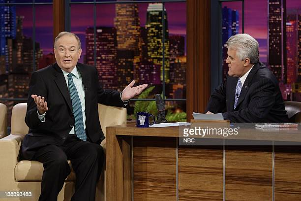 Episode 3456 -- Pictured: Political commentator Bill O'Reilly during an interview with host Jay Leno on October 12, 2007