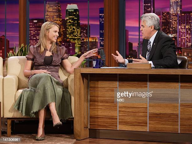 Lara Logan of CBS News during an interview with host Jay Leno on October 15 2007 Photo by Margaret Norton/NBCU Photo Bank