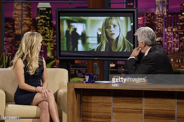 Actress Reese Witherspoon during an interview with host Jay Leno on October 16 2007 Photo by Dave Bjerke/NBCU Photo Bank