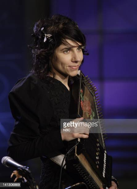 Musical guest PJ Harvey performs on October 16 2007 Photo by Dave Bjerke/NBCU Photo Bank