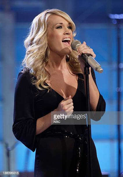 Musical guest Carrie Underwood performs on October 29 2007