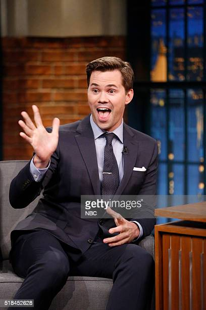 Actor Andrew Rannells during an interview on March 31 2016