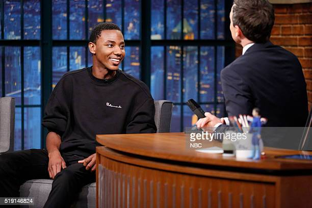 Actor/comedian Jerrod Carmichael during an interview with host Seth Meyers on April 4 2016