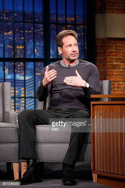 Actor David Duchovny during an interview on April 14 2016