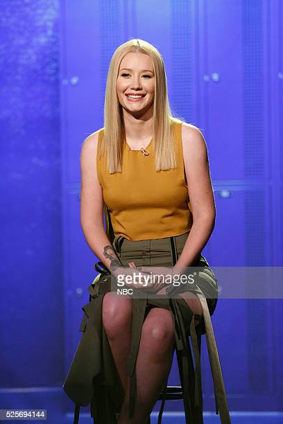 Musical guest Iggy Azalea during a sketch on April 28 2016