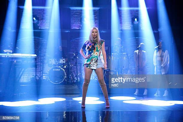 Musical guest Iggy Azalea performs on April 28 2016