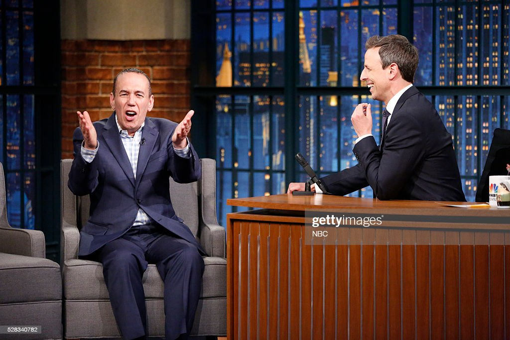 "NBC's ""Late Night With Seth Meyers"" With Guests Aaron Paul, Gilbert Gottfried, Thomas Kail"