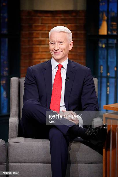 Journalist Anderson Cooper during an interview on May 11 2016