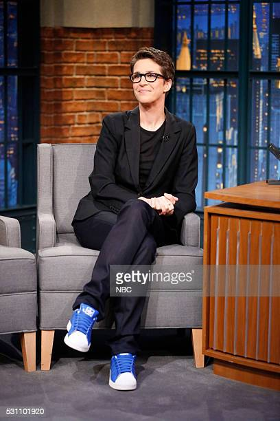 Political commentator Rachel Maddow during an interview on May 12 2016