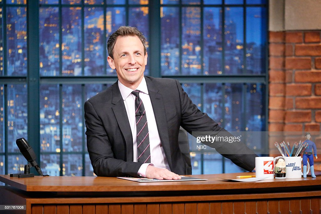 "NBC's ""Late Night With Seth Meyers"" With Guests Connie Britton, Natasha Leggero, Marcus Samuelsson"