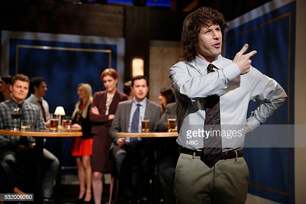 """Andy Samberg during the Second Chance Theater sketch """"Wanna Come With"""" on May 17 2016"""