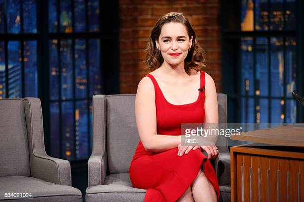 Episode 375 -- Pictured: Actress Emilia Clarke during an interview on May 24, 2016 --