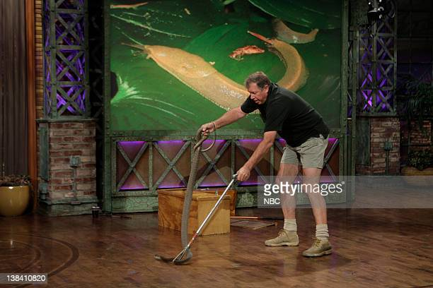 LENO Episode 3755 Air Date Pictured Reptile expert Jules Sylvester with the deadly Black Mamba snake on May 1 2009