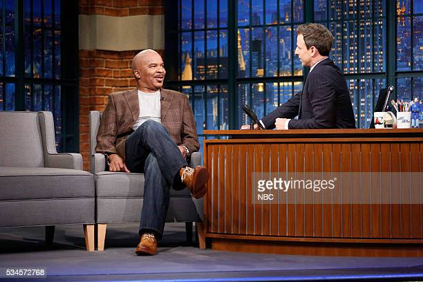 Actor David Alan Grier during an interview with host Seth Meyers on May 26 2016