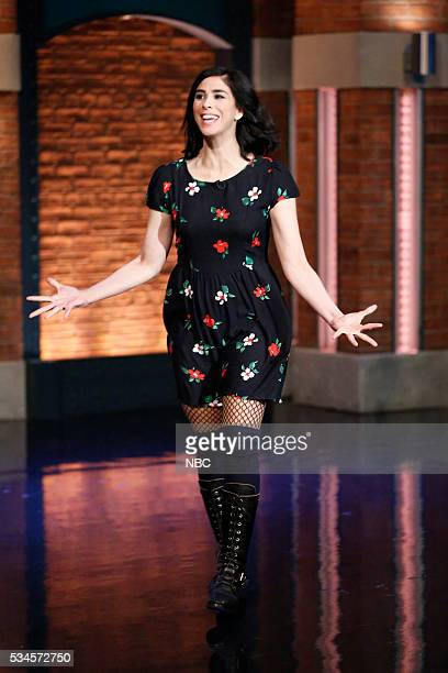 Comedian Sarah Silverman arrives on May 26 2016