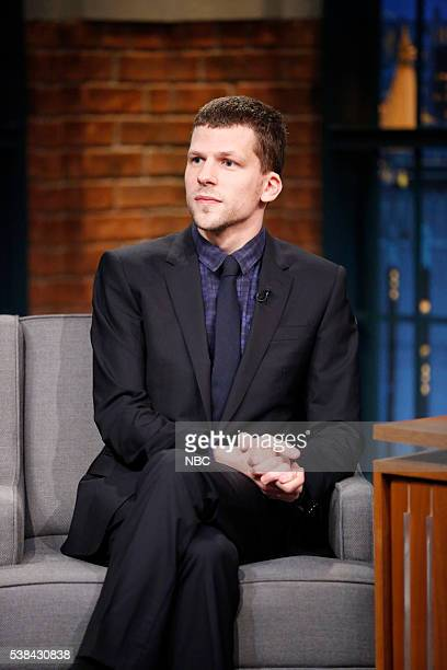 Actor Jesse Eisenberg during an interview on June 6 2016