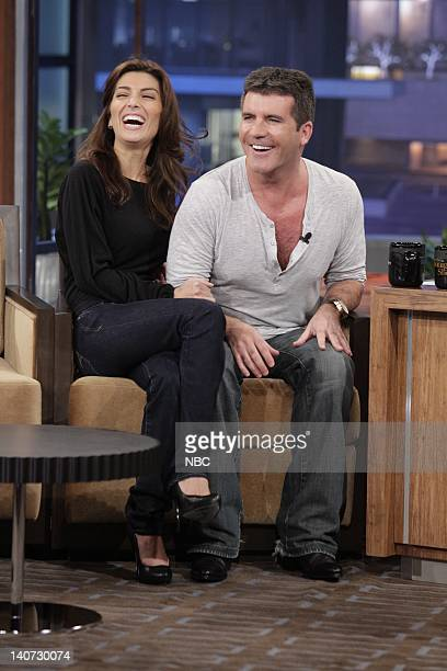 American Idol judge Simon Cowell with fiance Mezhgan Hussainy during an interview on March 8 2010 Photo by Paul Drinkwater/NBCU Photo Bank