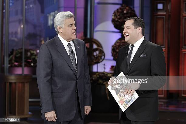 Host Jay Leno with Ross The Intern Mathews during the Ross at the Vanity Fair Oscar Party segment on March 8 2010 Photo by Paul Drinkwater/NBCU Photo...