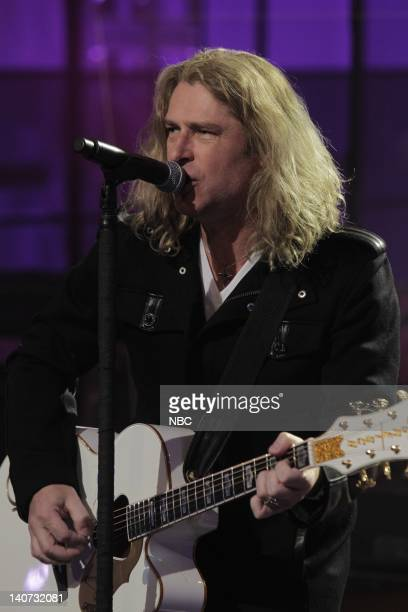 Singer Ed Roland Musical guest Collective Soul performs on March 16 2010 Photo by Paul Drinkwater/NBCU Photo Bank