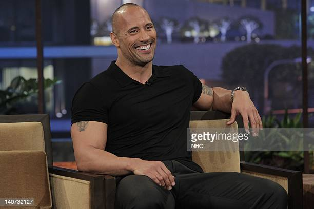 Actor Dwayne Johnson during an interview on March 17 2010 Photo by Stacie McChesney/NBCU Photo Bank