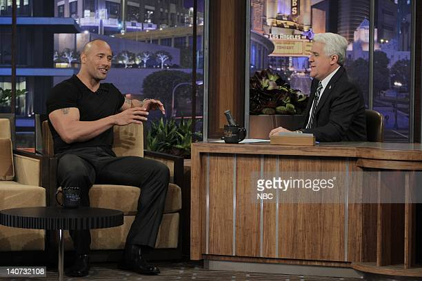 Actor Dwayne Johnson during an interview with host Jay Leno on March 17 2010 Photo by Stacie McChesney/NBCU Photo Bank