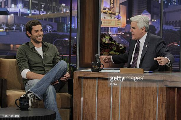 Actor Zachary Levi during an interview with host Jay Leno on April 1 2010 Photo by Stacie McChesney/NBCU Photo Bank